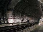 Тоннель перед приближением поезда